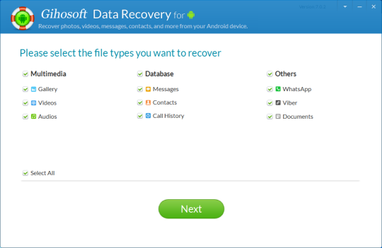 Gihosoft Data Recovery for Android