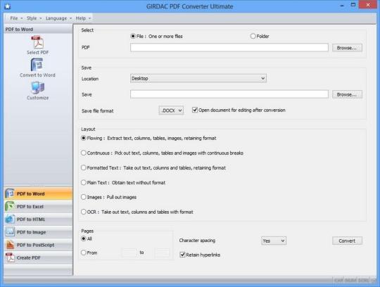 GIRDAC PDF Converter Ultimate