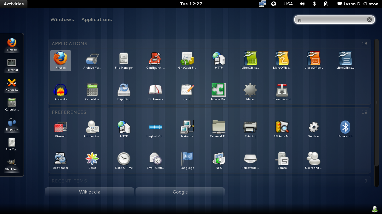GNOME User Share