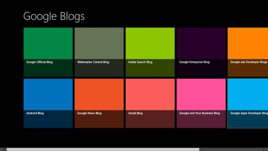 Google Blogs for Windows 8