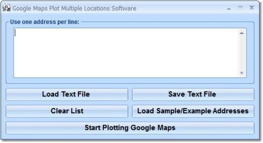 Google Maps Plot Multiple Locations Software