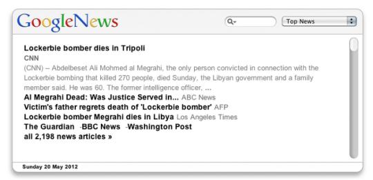 GoogleNews Widget
