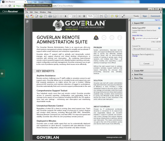 GoverLAN Remote Control