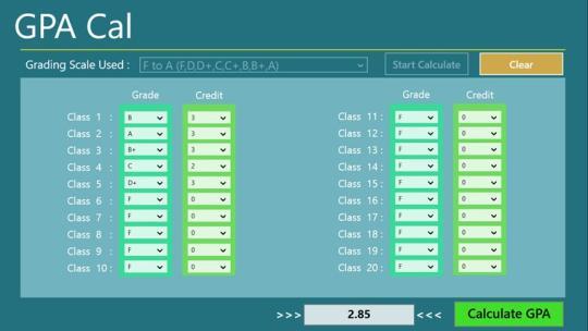 GPA Cal for Windows 8