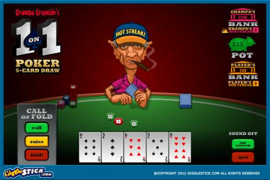 Grampa Grumble 1-on-1 Poker