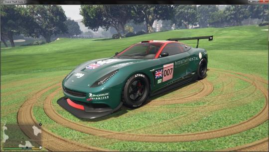 Grand Theft Auto V Aston Martin DBR9 GT1 Spec Texture Mod for Massacro