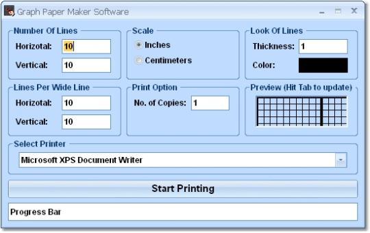 Graph Paper Maker Software