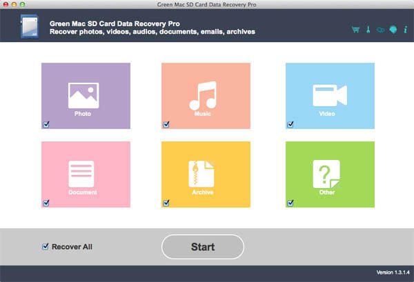Green Mac SD Card Data Recovery Pro