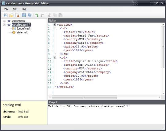 Greg's Xml Editor