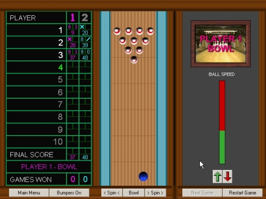 Grey Olltwit's Bowling Game