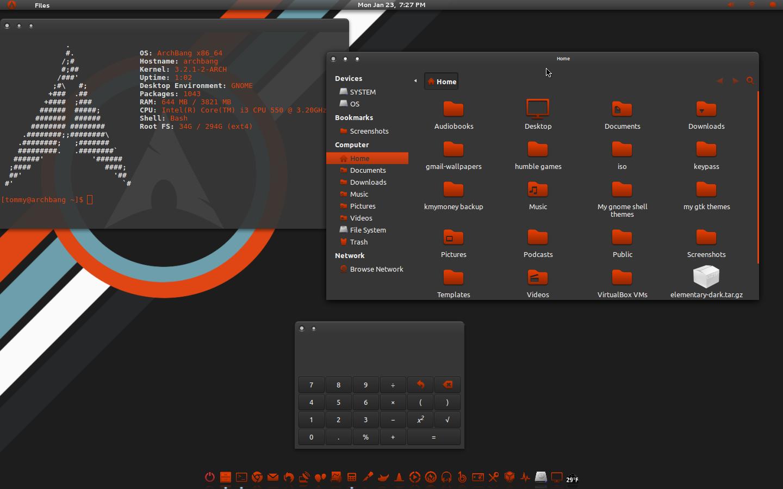 Greyness-Orange GTK Theme