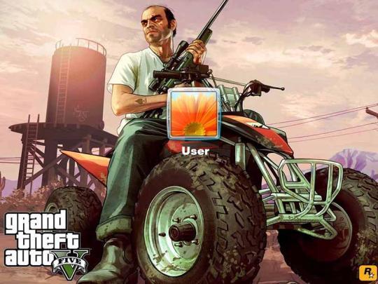 GTA V Logon Screen