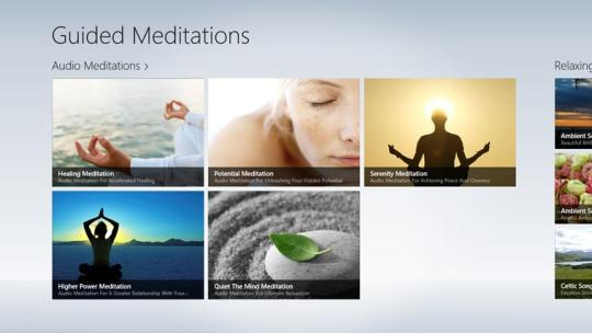 Guided Meditations for WIndows 8