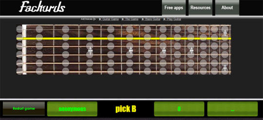 Guitar Fretboard Memorization Game