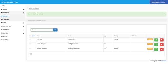 GZ PHP Registration Form