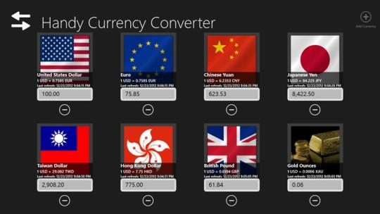 Handy Currency Converter for Windows 8