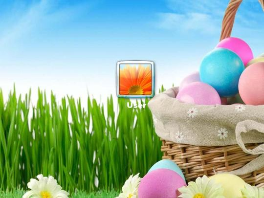 Happy Easter Logon Screen