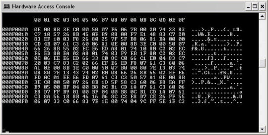 Hardware Access Console for MS-DOS