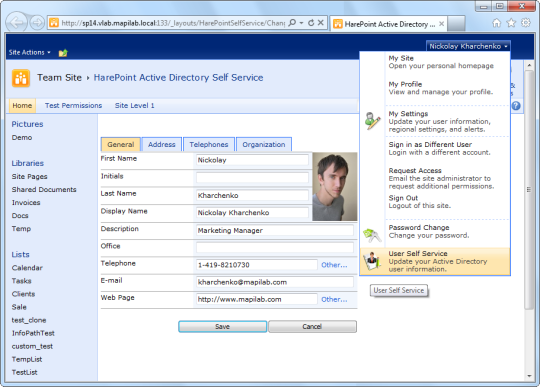 HarePoint Active Directory Self Service