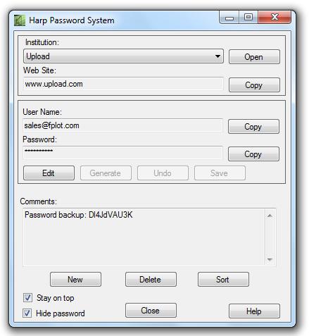Harp Password