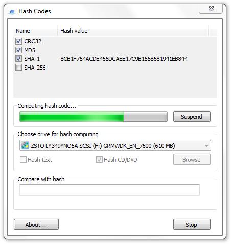 Hash Codes Portable (32-bit)