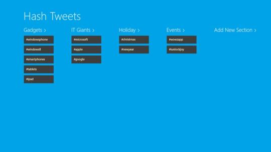 Hash Tweets for Windows 8