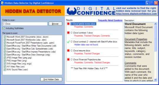 Hidden Data Detector