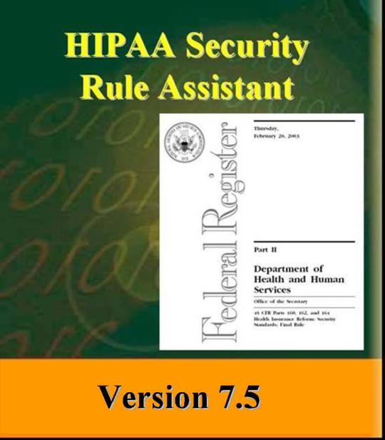 HIPAA Security Rule Assistant