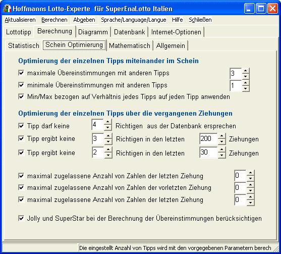 Hoffmanns Lotto-Experte SuperEnaLotto