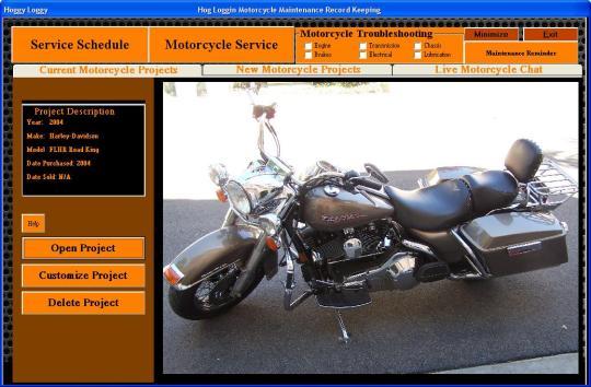Hog Loggin Motorcycle Service Manager