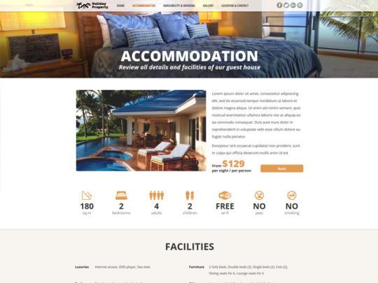 Holiday Property Website