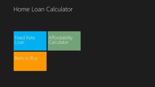 Home loan calculator Pro for Windows 8