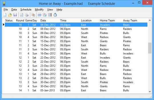 Home or Away League Scheduler