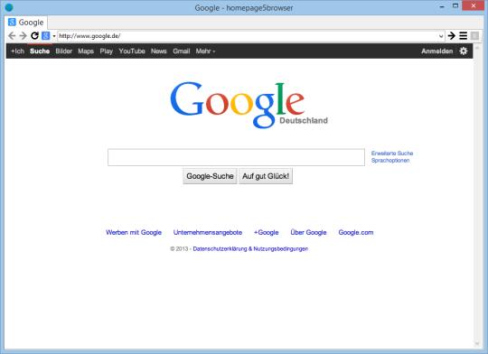 Homepage5browser