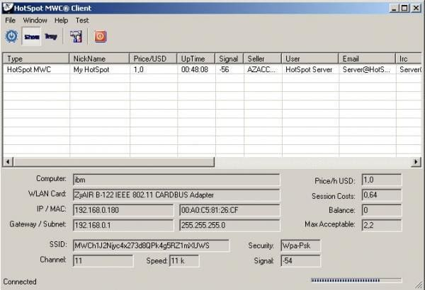 HotSpot MWC Server