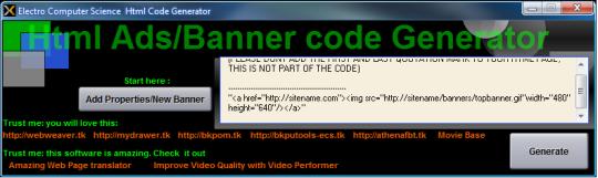 HTML Banners Ad Code Creator