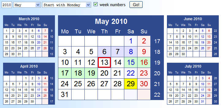 HTML-Calendar (JS)