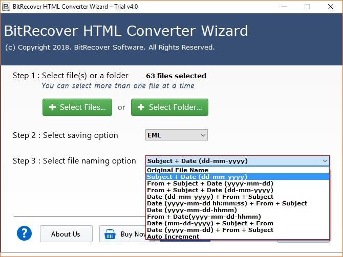 HTML Converter Wizard