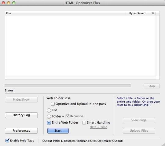 HTML Optimizer Plus