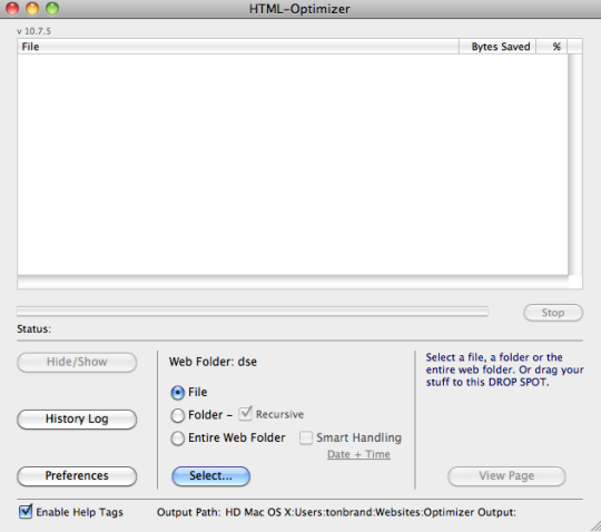 HTML Optimizer