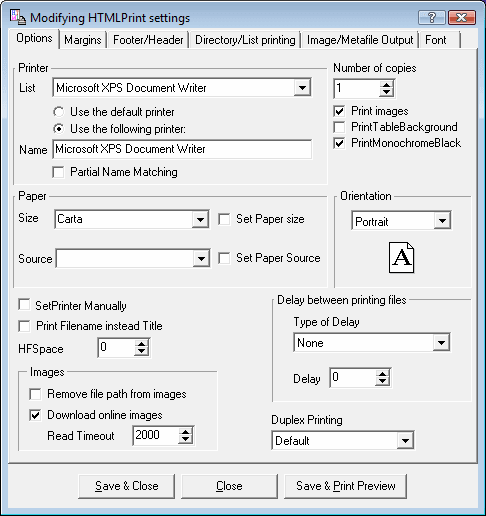 HTMLPrint