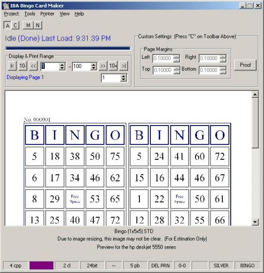 IBA Bingo Card Maker