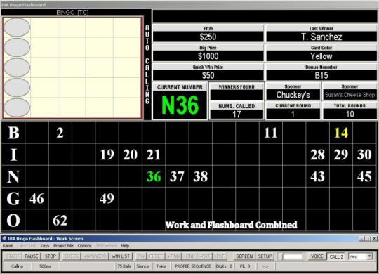 IBA Bingo Flashboard