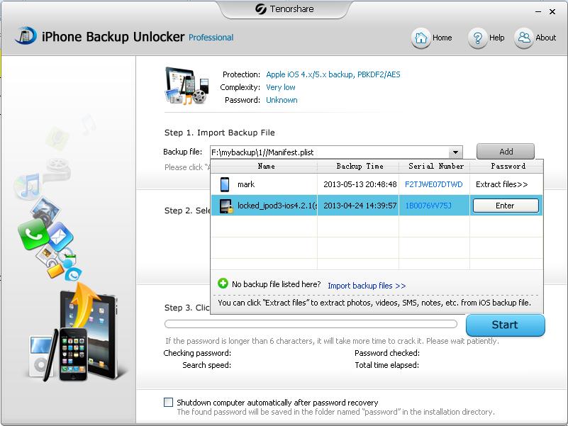 iBackupUnlocker