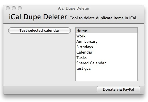 iCal Dupe Deleter