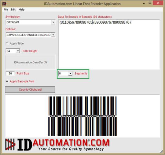 IDAutomation.com Linear Font Encoder Application