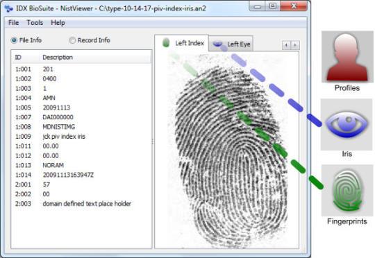 IDX BioSuite NIST Viewer