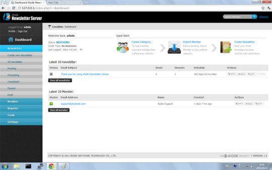 iKode Newsletter Server