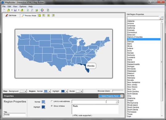 iMapBuilder Interactive HTML5 Map Builder