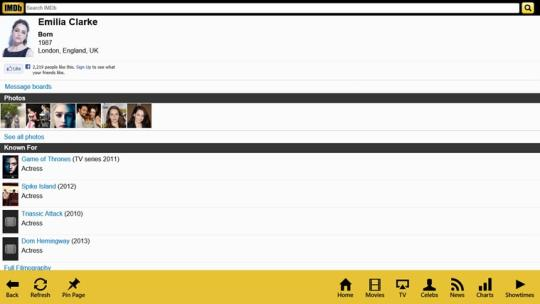 IMDb Touch for Windows 8